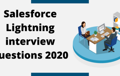 Salesforce Lightning interview questions 2020